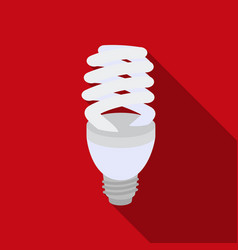 Fluorescent lightbulb icon in flat style isolated vector