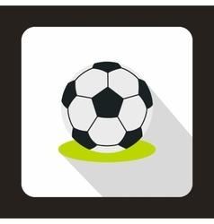 Football ball icon flat style vector image vector image