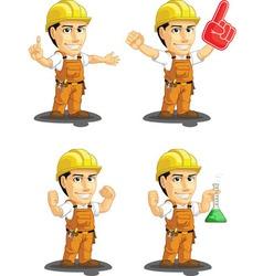 Industrial construction worker mascot 13 vector