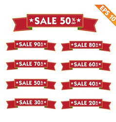 Label stitch sticker sale tag - - EPS10 vector image