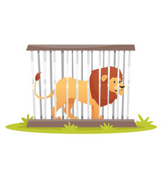 lion in cage vector image