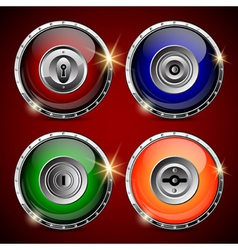 Locks collection vector image