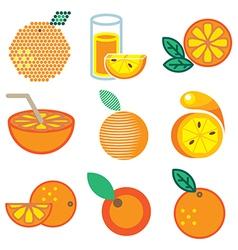 Logo icons orange vector