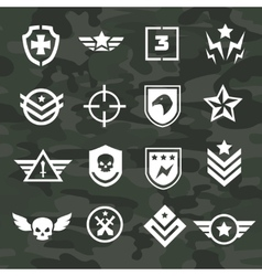 Military symbol icons and logos special forces vector image