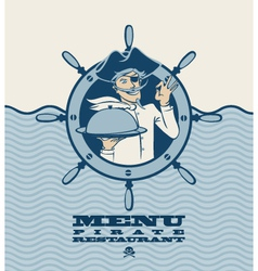 Pirate menu vector