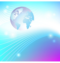Planet glowing background vector image vector image