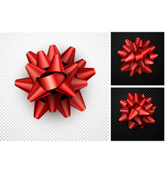 realistic red bow for gift vector image