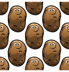 Seamless pattern of cartoon potatoes vector image