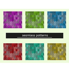seamless pattern seems like tiles on the roof vector image vector image