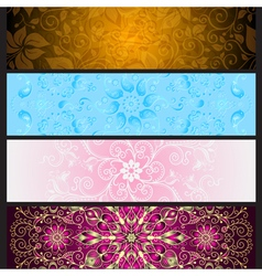 Set colorful gradient banners vector