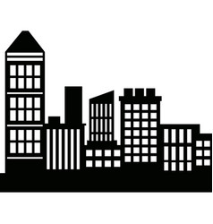 Silhouette skyscrapers building city architecture vector