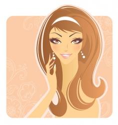 smiling women vector image vector image