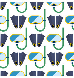snorkeling or scuba fins or flippers underwater vector image