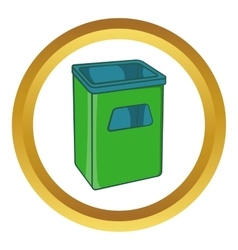 Street dustbin icon vector