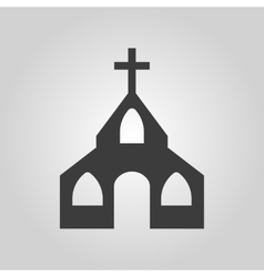 The church icon Christian and god catholic vector image vector image