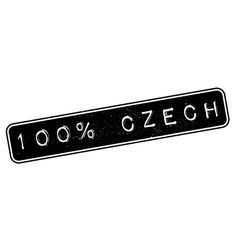100 percent Czech rubber stamp vector image