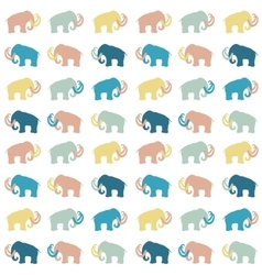Mammoth silhouettes seamless vector