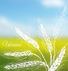 Ukrainian field background vector