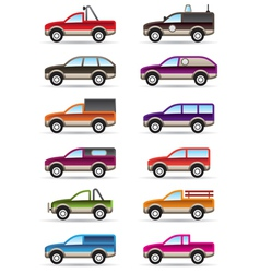 Different off road and SUV cars vector image