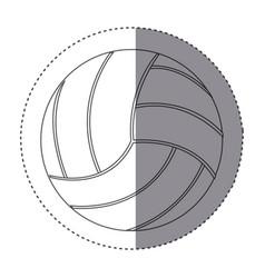 sticker silhouette volleyball icon sport vector image