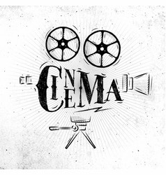 poster movie camera vector image