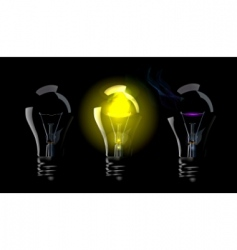 phase blown bulbs vector image