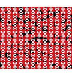 Skulls grunge background vector