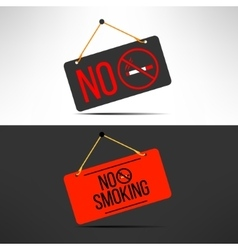 No smoking sign cigarette forbidden board vector