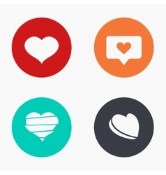 Modern heart colorful icons set vector