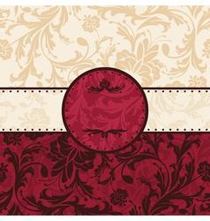 Retro vintage floral frame vector