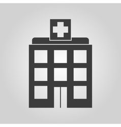 The hospital icon medical and ambulance vector