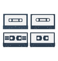 Set of various audio cassette tapes vector