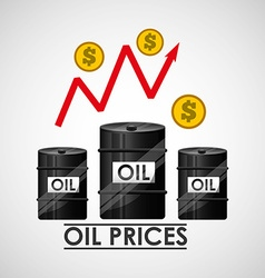 Oil prices design vector