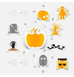 Halloween sticker concept vector
