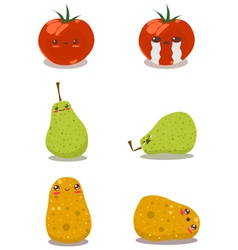 funny fruits fun pack vector image