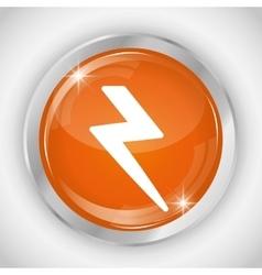 Thunder button icon social media design vector