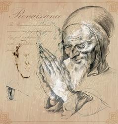 An hand drawn - renaissance vector image