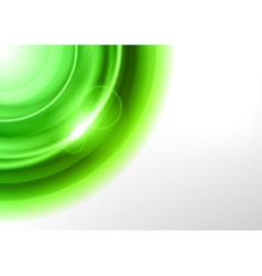 background green light corner round vector image vector image
