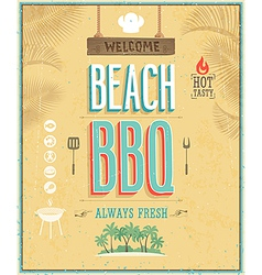 beach bbq vector image
