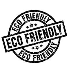 Eco friendly round grunge black stamp vector