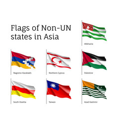 flags of non-un states vector image vector image