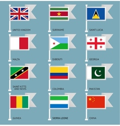 Flags set four-07 vector