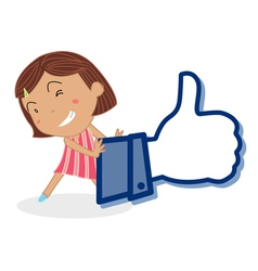 Girl and thumb vector image vector image
