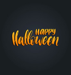 Happy halloween lettering for vector