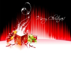 holiday on a christmas theme with mag vector image vector image