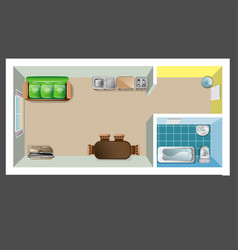 house or floor plan design top view vector image vector image