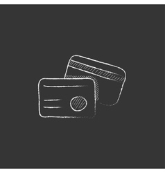 Identification card drawn in chalk icon vector