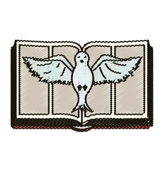 Isolated religion dove design vector