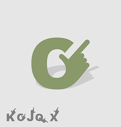 Letter C Logo letters with a hand Finger pointing vector image vector image