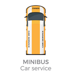 Minibus car service means of transport isolated vector